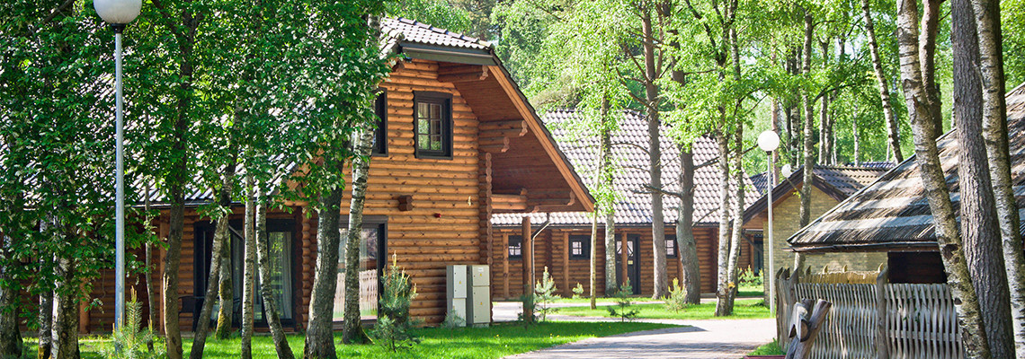 Two -storey log villa