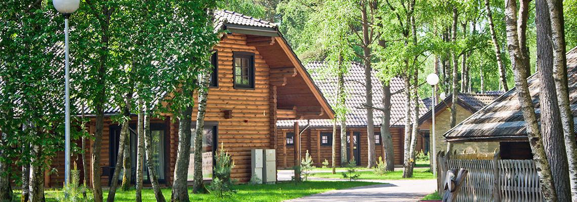 Two -storey log villa